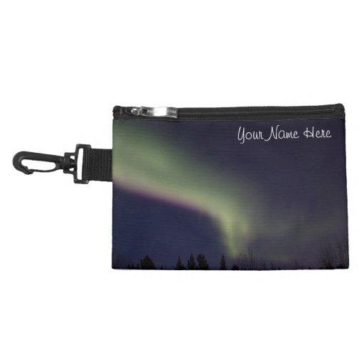 Northern Lights with a Streak of Purple; Custom Accessory Bag