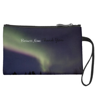 Northern Lights with a Streak of Purple; Promo Wristlet Clutches