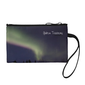 Northern Lights with a Streak of Purple; Yukon Coin Wallets