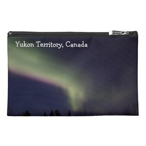 Northern Lights with a Streak of Purple; Yukon Travel Accessory Bag