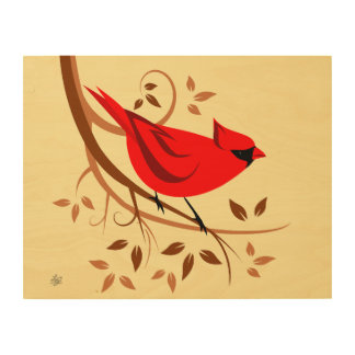 Northern Male Cardinal Wall Art