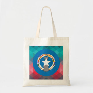 Northern Mariana Islands flag circle on modern bok Budget Tote Bag