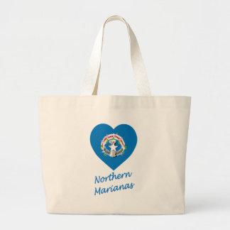 Northern Mariana Islands Flag Heart Bags