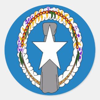 Northern Mariana Islands Flag Round Sticker