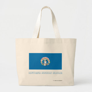 Northern Mariana Islands Flag with Name Bags