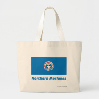Northern Mariana Islands Flag with Name Canvas Bag