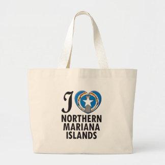 Northern Mariana Islands Love Tote Bags