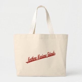 Northern Mariana Islands script logo in red distre Bag