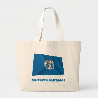 Northern Mariana Islands Waving Flag with Name Bag