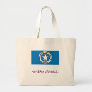 Northern Marianas Flag And Name Jumbo Tote Bag