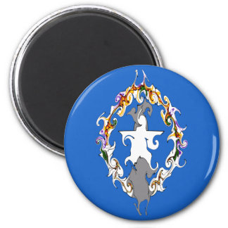 Northern Marianas Gnarly Flag 6 Cm Round Magnet
