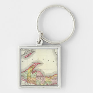Northern Michigan Key Ring