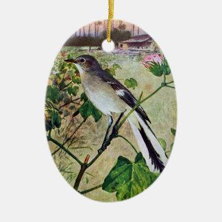 Northern Mockingbird Christmas Ornament