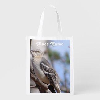 Northern Mockingbird Reusable Grocery Bag