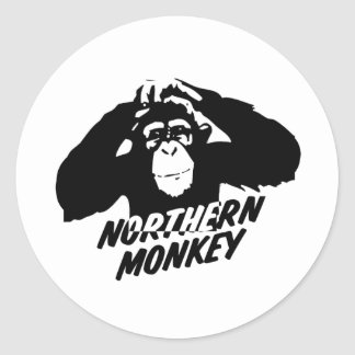 Northern Monkey Classic Round Sticker