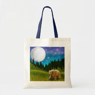 Northern Moon Grizzly Tote Bag