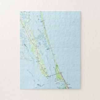 Northern Outer Banks North Carolina Map (1985) Jigsaw Puzzle