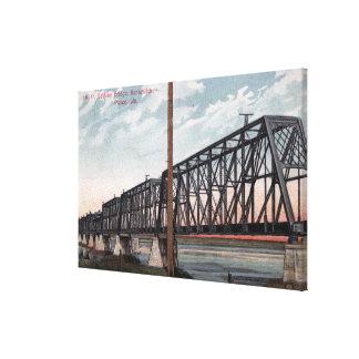 Northern Pacific Bridge View Canvas Print