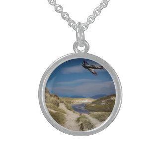 Northern Patrol Round Pendant Necklace