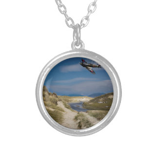 Northern Patrol Round Pendant Necklace