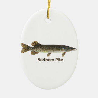 Northern Pike (titled) Christmas Ornament