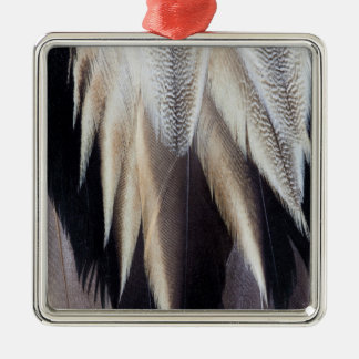 Northern Pintail Duck feather Silver-Colored Square Decoration