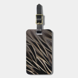 Northern Pintail Duck Feathers Luggage Tag