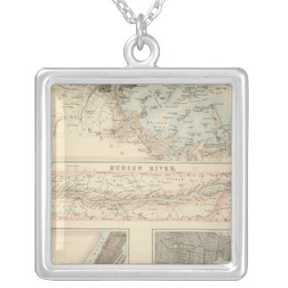 Northern Ports and Harbours in the United States Silver Plated Necklace