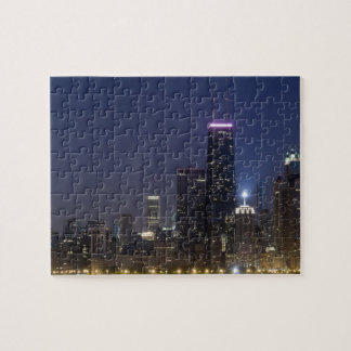 Northern section of the downtown Chicago skyline Puzzles