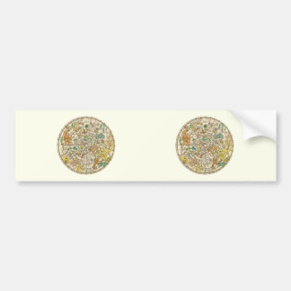 Northern Sky Star Chart and Constellations Map Bumper Sticker