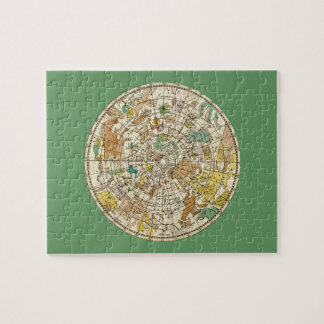 Northern Sky Star Chart and Constellations Map Jigsaw Puzzle