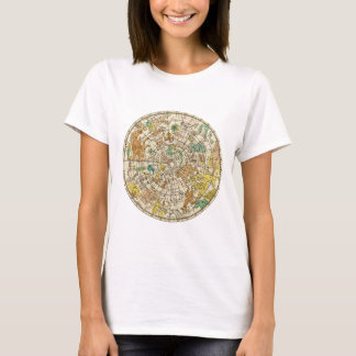 Northern Sky Star Chart and Constellations Map T-Shirt
