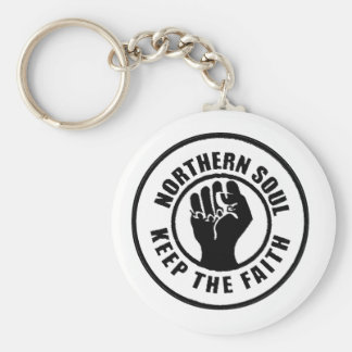 Northern Soul Basic Round Button Key Ring