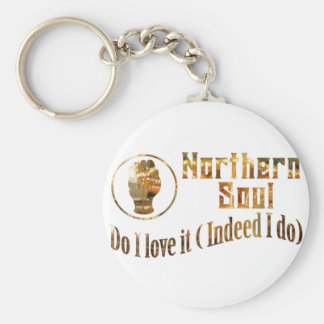 Northern Soul. Do I Love It - Gold Key Ring