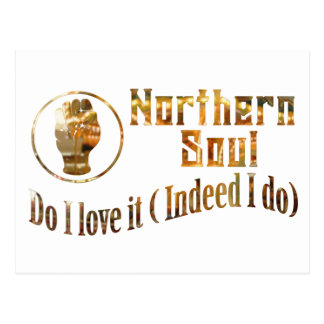 Northern Soul. Do I Love It - Gold Postcard