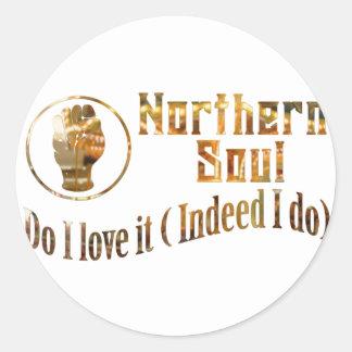 Northern Soul. Do I Love It - Gold Round Sticker