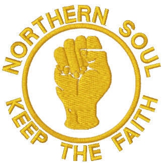 Northern Soul Embroidered keep the faith hoody