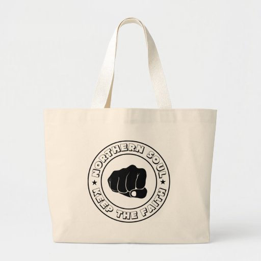 NORTHERN SOUL - KEEP THE FAITH DESIGN.png Canvas Bag