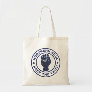 Northern Soul Keep The Faith & Fist Symbol Bag