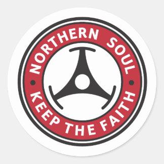 Northern Soul: Keep the Faith Round Sticker