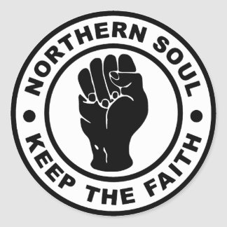 Northern Soul Keep The Faith Round Sticker