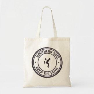Northern Soul Keep The Faith Slogans & Dancer Canvas Bag