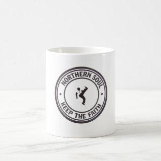 Northern Soul Keep The Faith Slogans & Dancer Basic White Mug