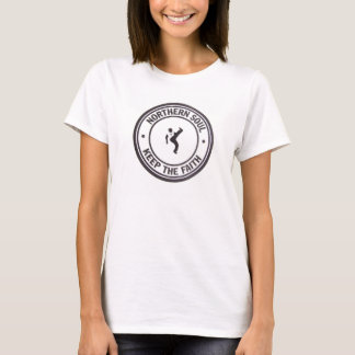 Northern Soul keep The Faith Slogans & Dancer T-Shirt