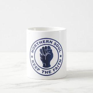 Northern Soul Keep The Faith Slogans & Fist Symbol Basic White Mug