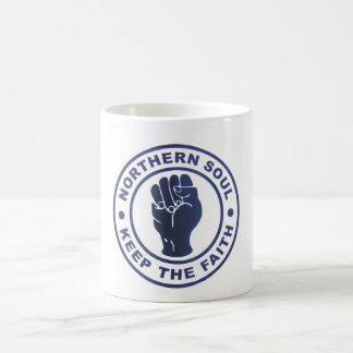 Northern Soul Keep The Faith Slogans & Fist Symbol Coffee Mug