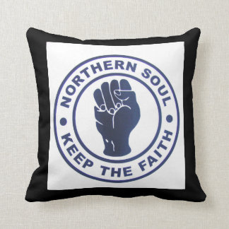 Northern Soul Keep the Faith Slogans & Fist Symbol Cushion