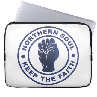 Northern Soul Keep The Faith Slogans & Fist Symbol Laptop Sleeve