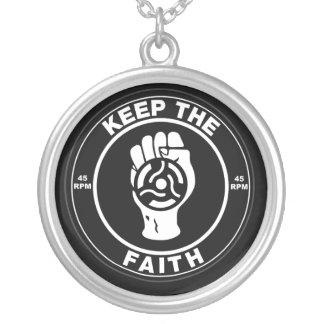 Northern Soul Keep the faith vinyl Round Pendant Necklace