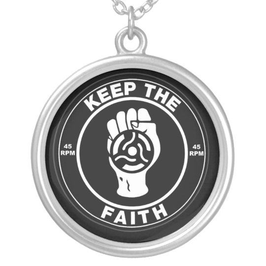 Northern Soul Keep the faith vinyl Silver Plated